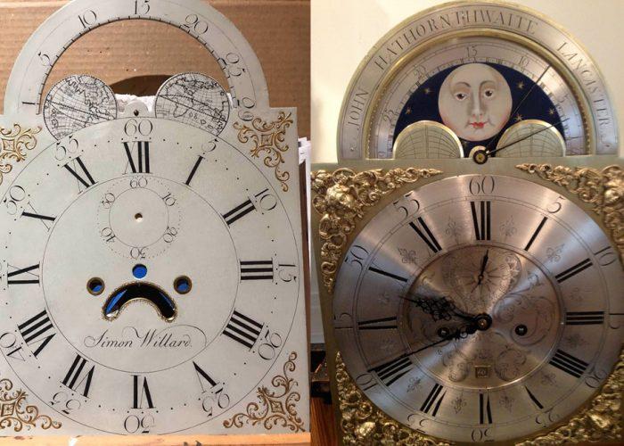 Restored Simon Willard And John Hawthorn Clock Dials